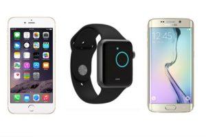 iPhone 6 Plus, Apple Watch y Samsung Galaxy S6 sometidos a una prueba de resistencia. Foto:Apple / Samsung. Imagen Por: