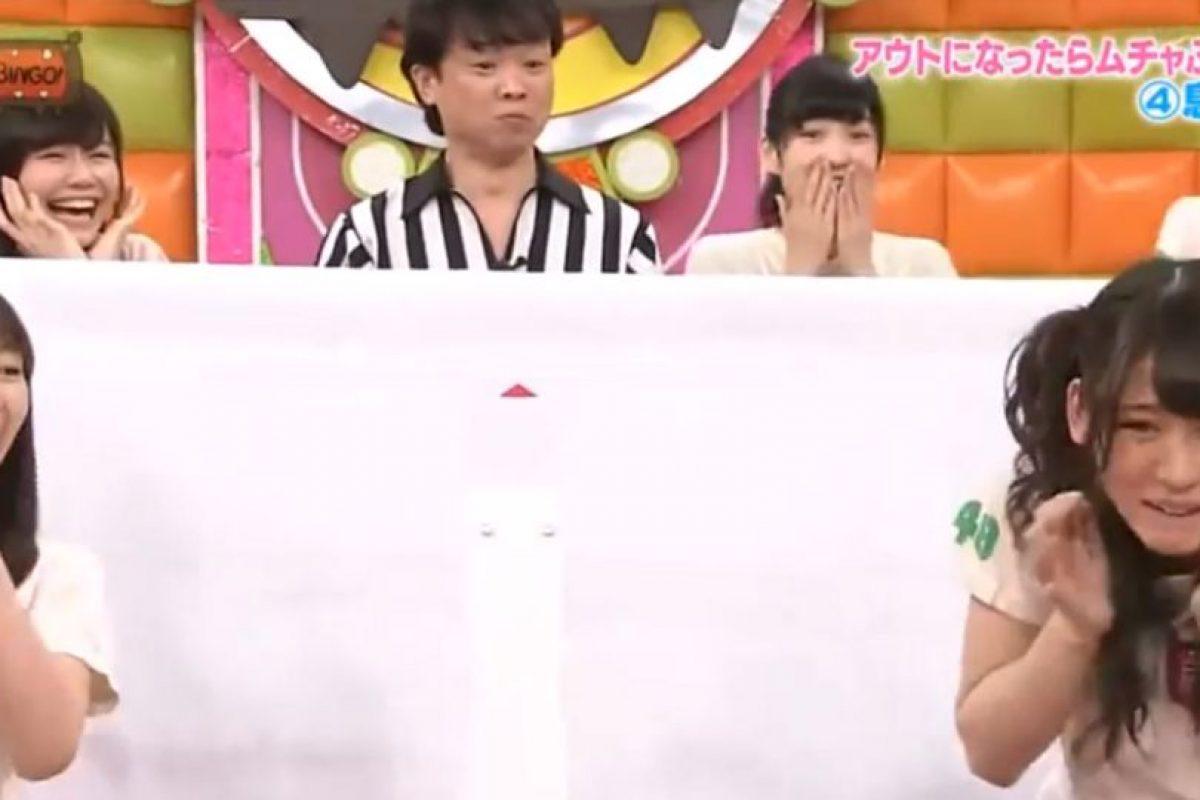Esta es otra de las tantas extrañas pruebas que hacen parte de la televisión nipona y que espantan a los occidentales. Foto:vía Youtube/Tv Nippon. Imagen Por: