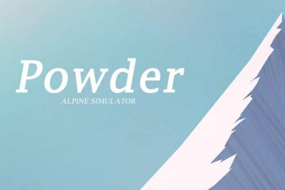 Powder es un simulador de ski en el que debes bajar una montaña. Es muy relajante Foto:Enormous. Imagen Por: