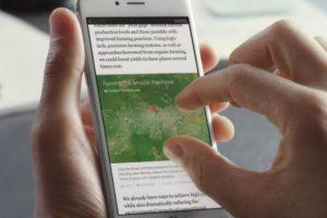 Las imágenes y mapas tendrán zoom y resolución HD. Además, algunos serán interactivos Foto:Facebook. Imagen Por: