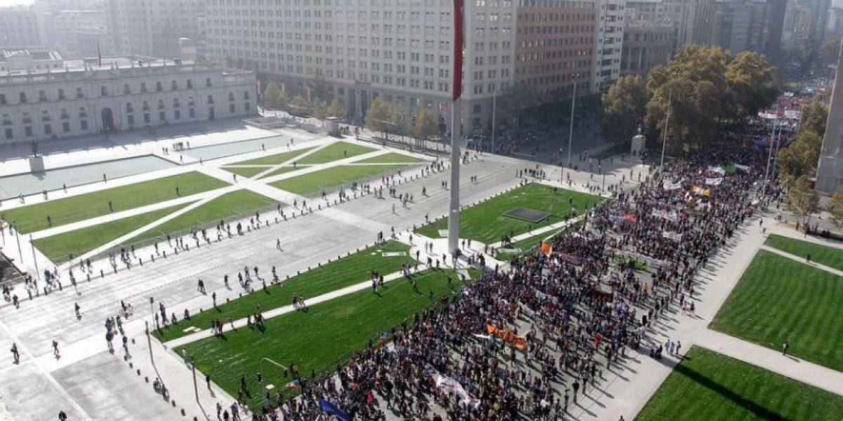 Los desvíos por la marcha estudiantil en Santiago