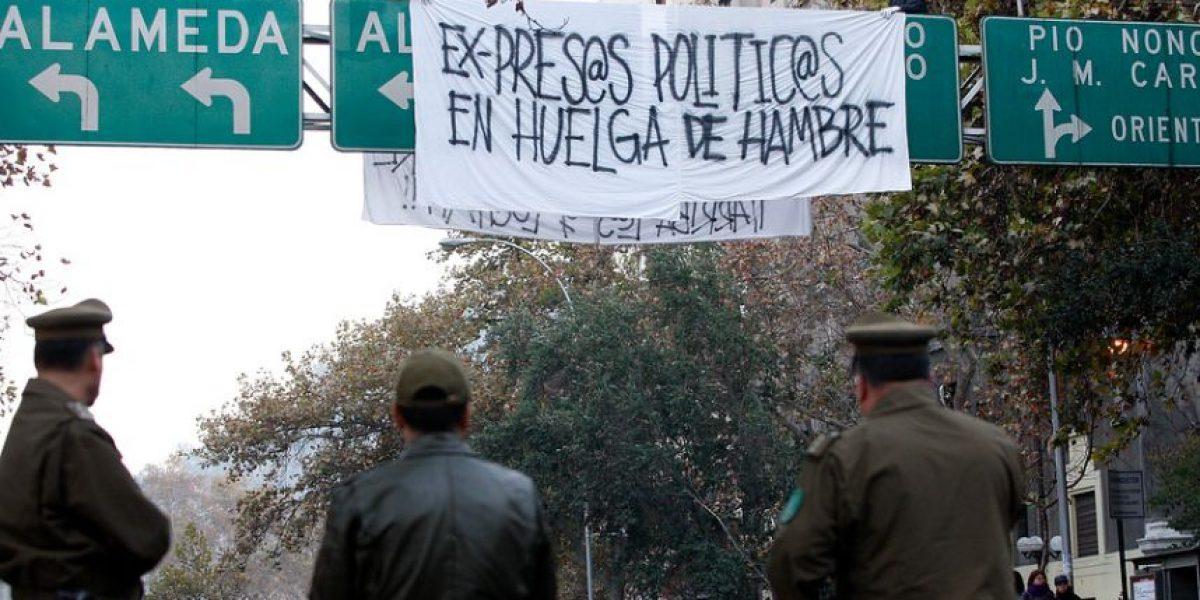 Peligrosa protesta en apoyo a ex presos políticos cortó el tránsito