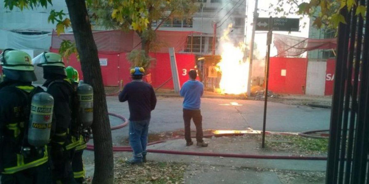 Fuga de gas en Las Condes moviliza a Bomberos