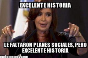 Cristina Fernández, presidenta de Argentina Foto:Generadordememes.com. Imagen Por: