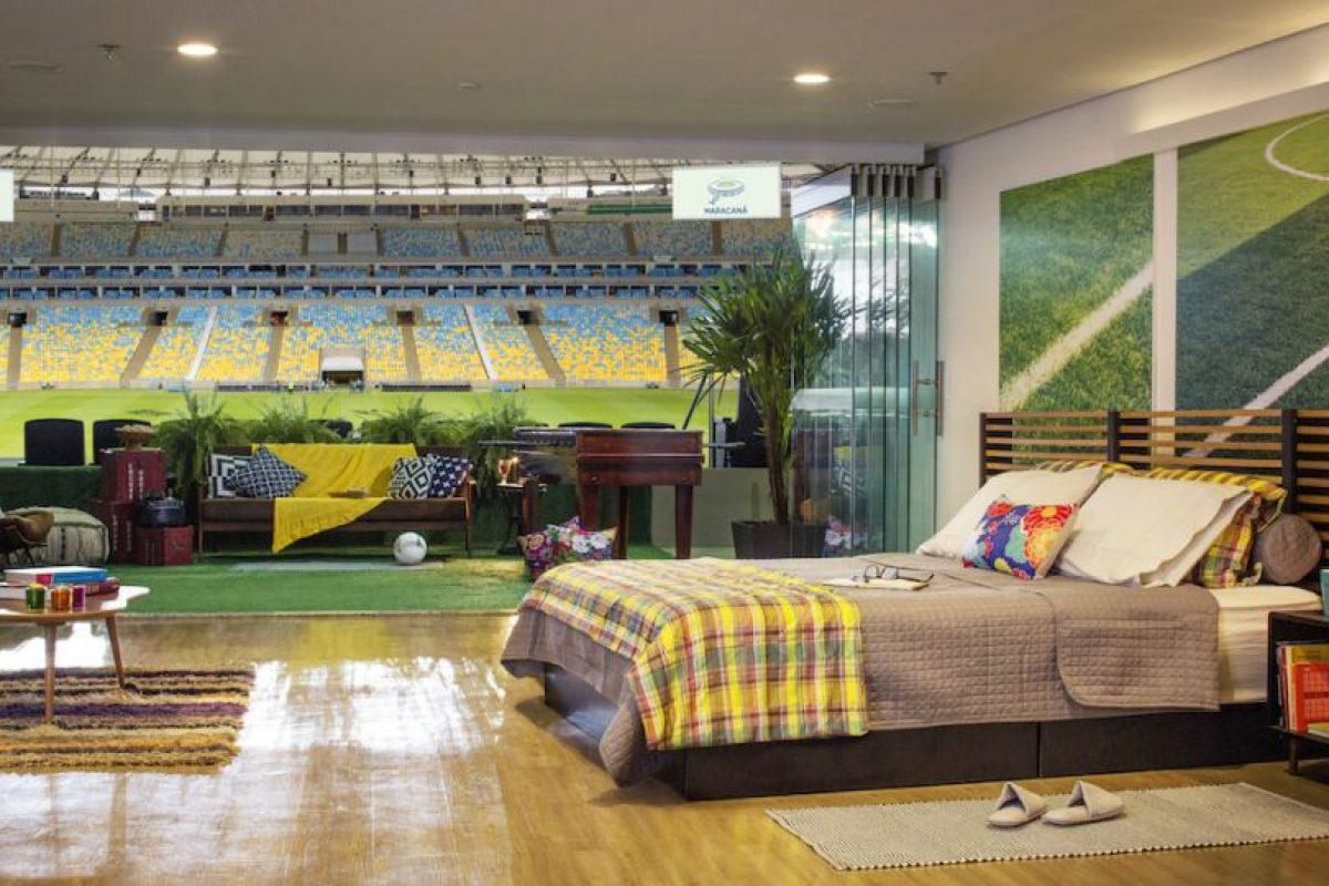 La suite VIP tiene vista al centro del campo de juego del Estadio Maracaná. Foto:Airbnb. Imagen Por: