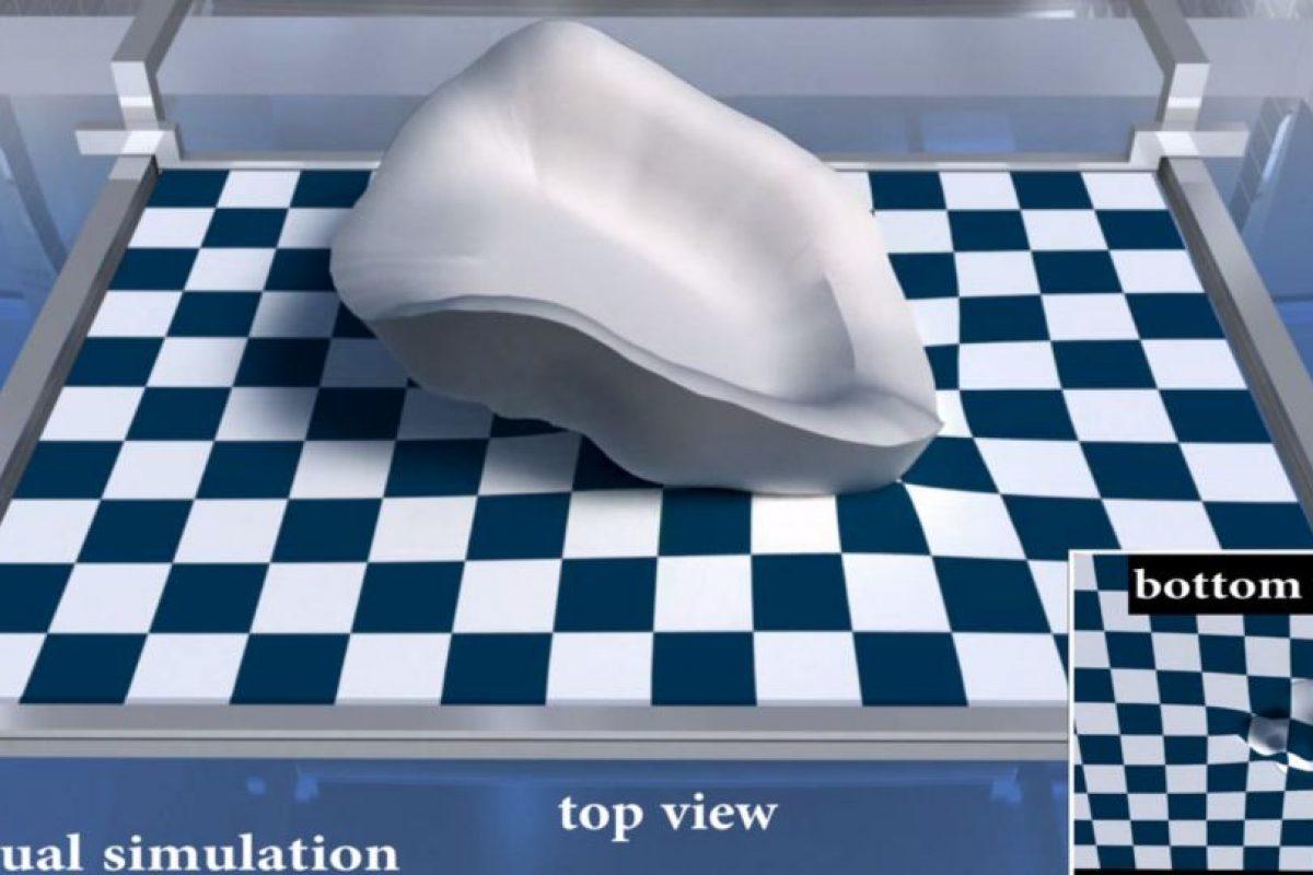 Esta es la simulación virtual del proceso Foto:Yizhong Zhang, Chunji Yin, Changxi Zheng and Kun Zhou. Imagen Por: