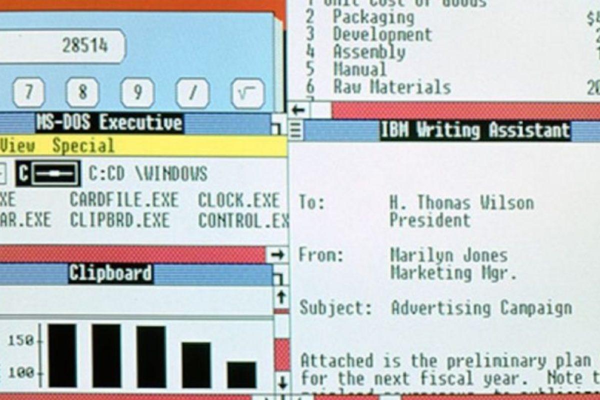 En 1987, Windows anunciaba sus nuevas actualizaciones. Windows 2.0 al 2.11 se lanzarán desde esa fecha hasta el año 1990. Foto:Vía windows.microsoft.com. Imagen Por: