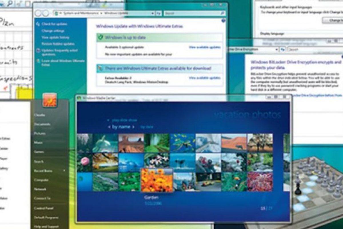 En el año 2006, Microsoft anunció la llegada del Windows Vista. Así es como lucía la interfaz. Foto:Vía windows.microsoft.com. Imagen Por: