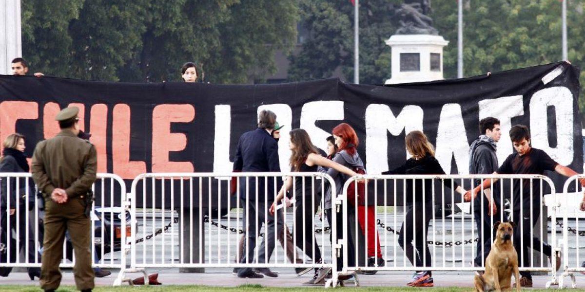 Intervención en La Moneda deja cinco detenidos