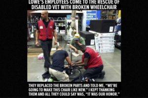 Varios mecánicos arreglaron la silla de ruedas de un hombre que no podía pagarla. Foto:Faith in Humanity Restored. Imagen Por: