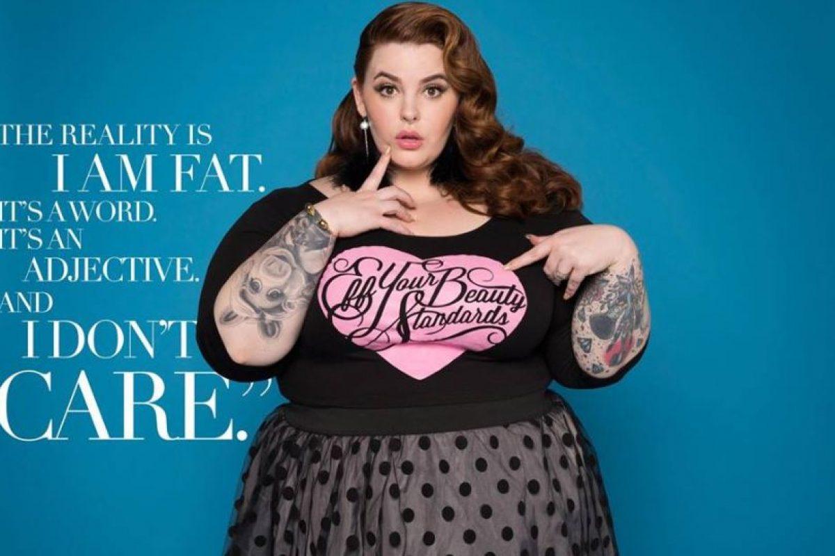 Se hizo famosa a nivel mundial por su campaña viral #effyourbeautystandards, en la que mostró que toda mujer de cualquier talla puede ser bella. Foto:vía Facebook/Tess Holliday. Imagen Por:
