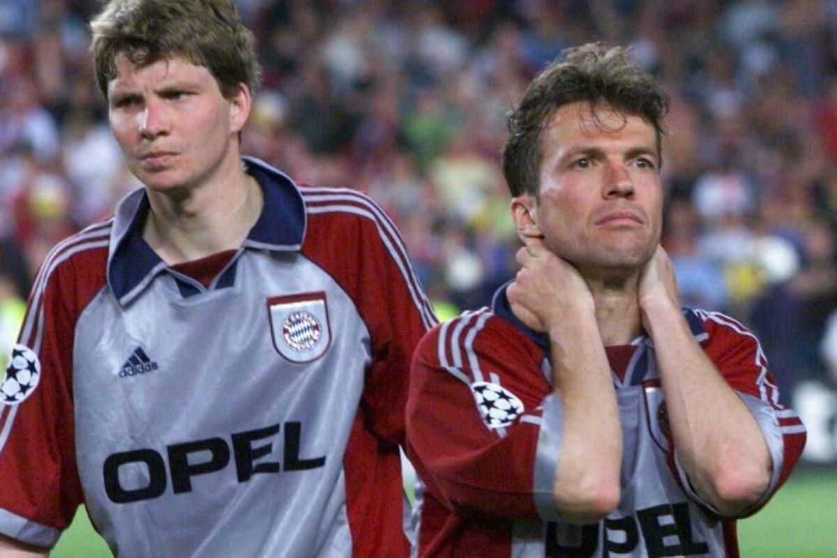 """El crack alemán, que ganó el Mundial en 1990, vivió los primeros años de la Champions League (con el nuevo nombre y formato de competición) y se quedó a un paso de ganarla en 1999, cuando su Bayern Munich enfrentó al Manchester United, que remontó un 1-0 en contra para arrebatarles la """"Orejona"""". Matthäus se retiró en el 2000 y un año después, el Bayern ganó el ansiado trofeo. Foto:Getty Images. Imagen Por:"""