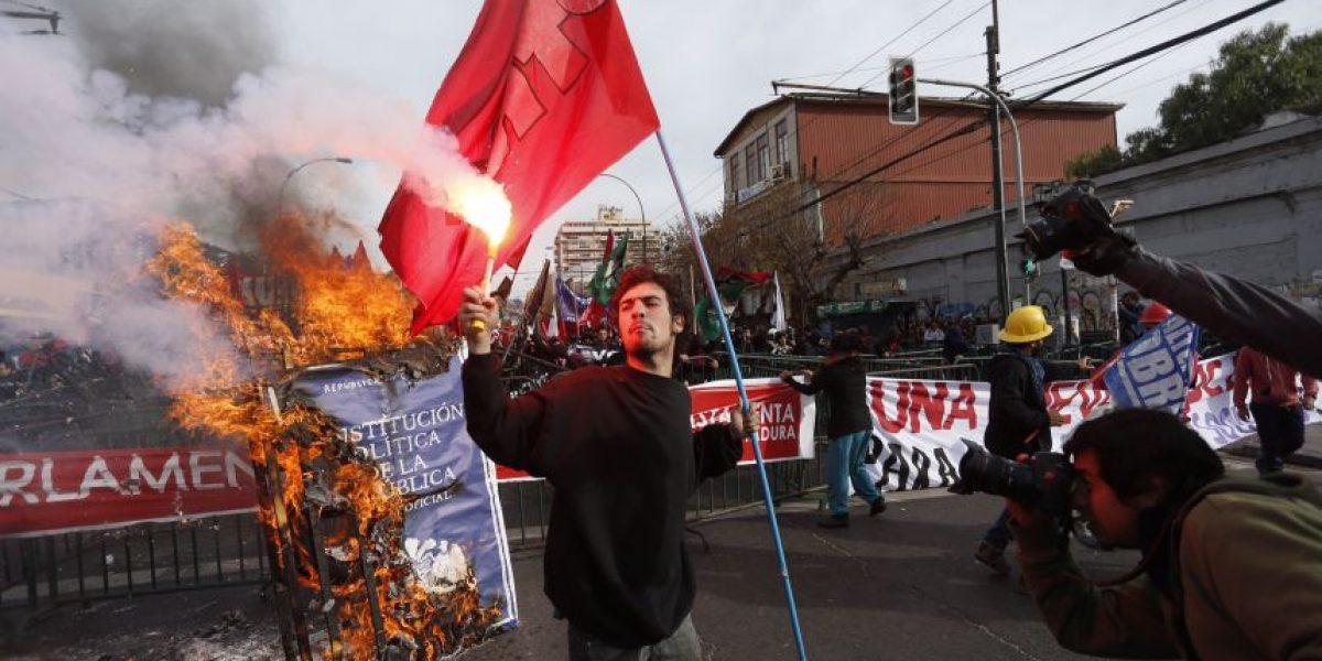 Al menos seis detenidos tras incidentes en marcha de Valparaíso