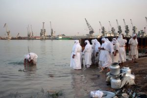 Ritual religioso en Irak Foto:AFP. Imagen Por: