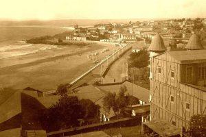 Panorámica Playa Chica de Cartagena, 1920. Foto:Gentileza Fotos Históricas de Chile. Imagen Por: