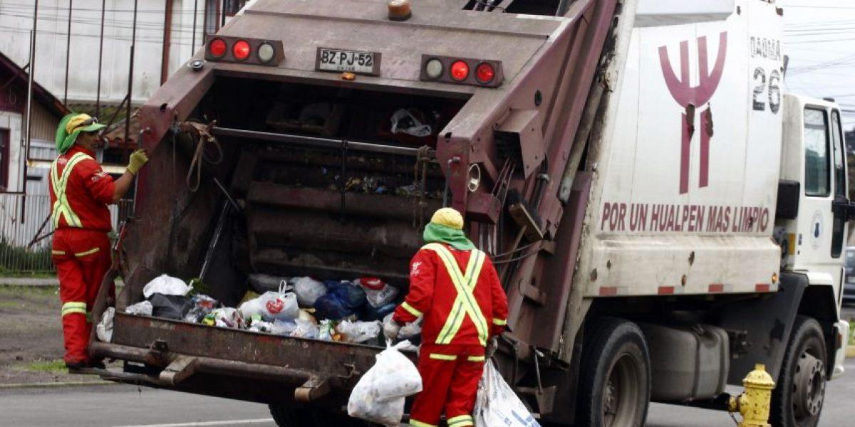 Recolectores de basura amenazan con paro a contar del lunes