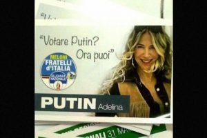 """La modelo, DJ y locutora de radio ha sobresalido en los últimos días por su eslogan: """"¿Quiere votar por Putin? ¡Ahora puede hacerlo!"""" Foto:Instagram.com/Adeputin. Imagen Por:"""