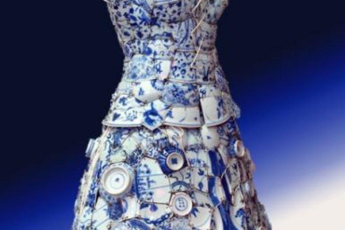 Vestido de porcelana del MET. Foto:vía METMuseum. Imagen Por: