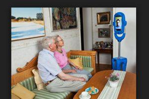 Vasteras Giraff es una herramienta de comunicación móvil que permite a las personas mayores comunicarse con el mundo exterior. Foto:Giraff Technologies. Imagen Por: