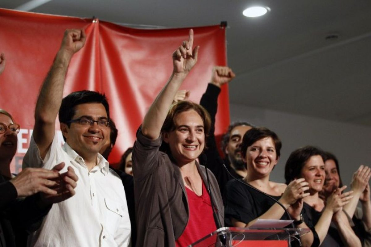 """La candidata a alcalde en Barcelona mostró ser un perfil ciudadano por la coalición """"Barcelona en Comú"""" Foto:AFP. Imagen Por:"""
