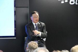 John S. Chen es director ejecutivo de la empresa canadiense Blackberry desde noviembre de 2013. Foto:twitter.com/BlackBerry. Imagen Por: