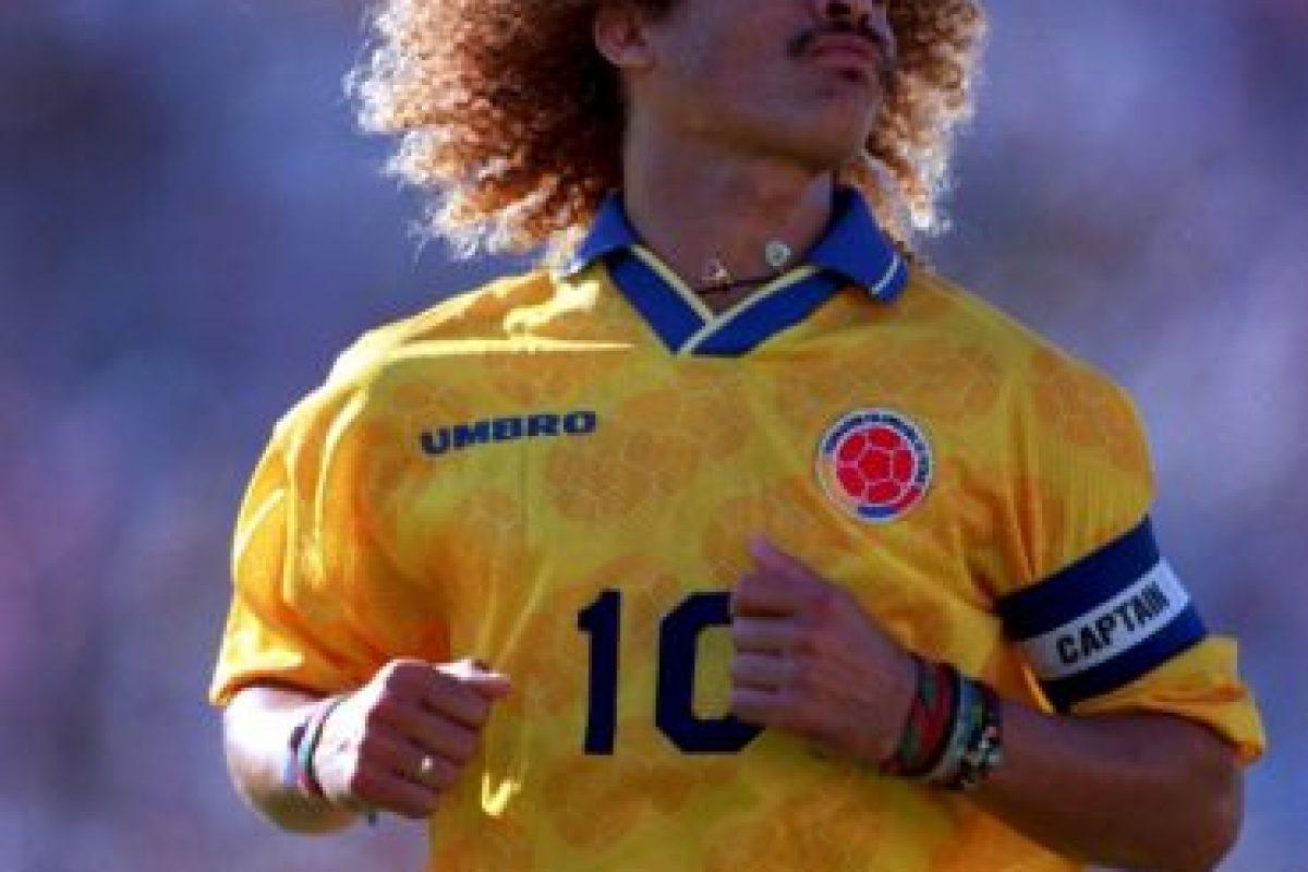 5. Carlos Valderrama (Colombia) Foto:Getty Images. Imagen Por: