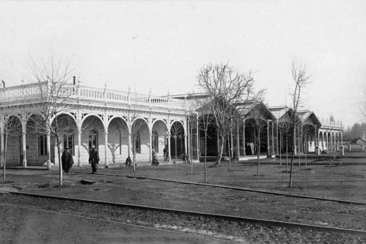 Vista de la Estación Central de Santiago de Chile en 1865. Foto:Fotos Históricas de Chile. Imagen Por: