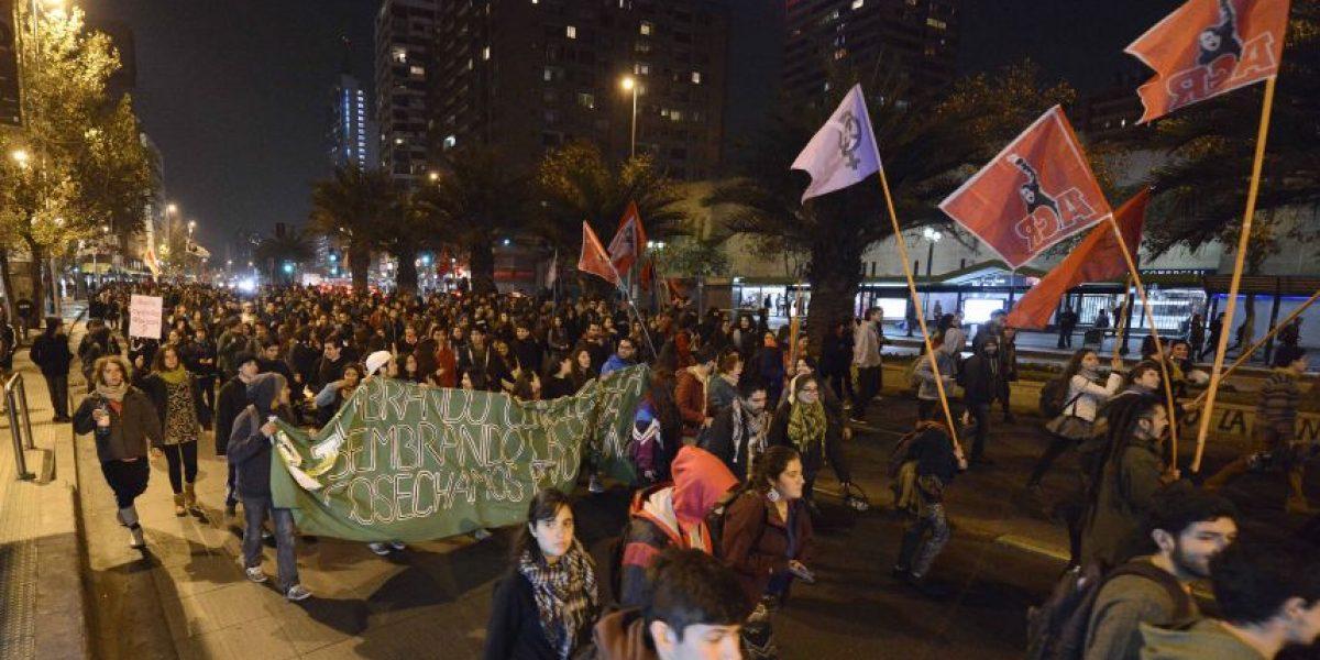 Así fue la marcha no autorizada que se tomó la Alameda