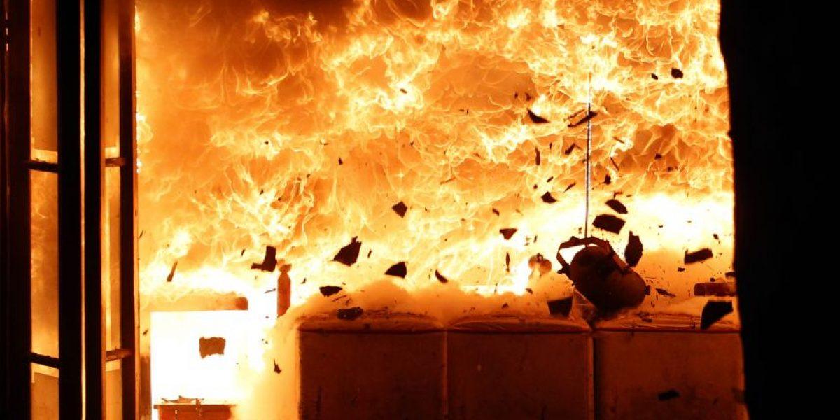 Incendio destruye seis locales en el Barrio Bellavista