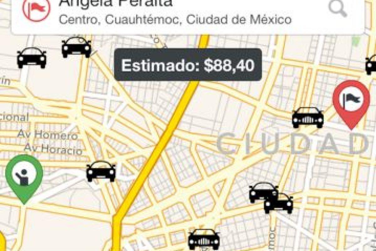 9) Ingresando su lugar de origen y destino pueden ver la tarifa estimada para conocer el precio aproximado de su viaje. Foto:Cabify. Imagen Por: