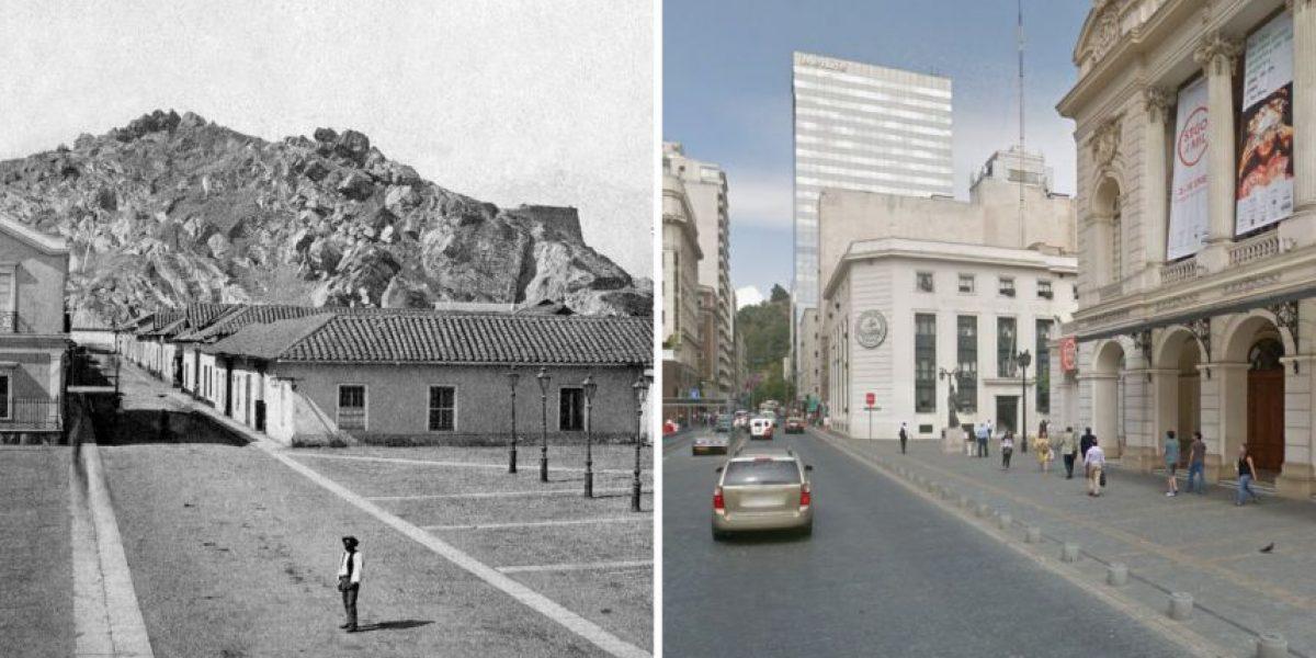 La radical transformación que ha sufrido Santiago en 150 años