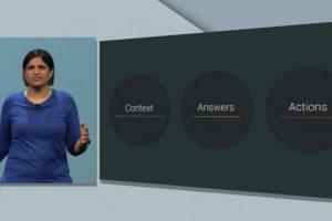 """Con la nueva función de """"Now on Tap"""", podrá contestar preguntar que hagan los usuarios y ofrecerá sugerencias instantáneas dependiendo de dónde se encuentren. Foto:Google. Imagen Por:"""