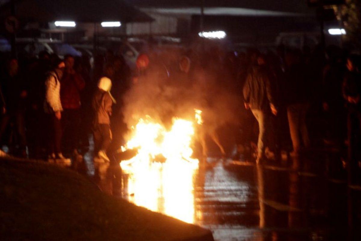 Vista de lo que ocurre en Concepción Foto:Agencia Uno. Imagen Por:
