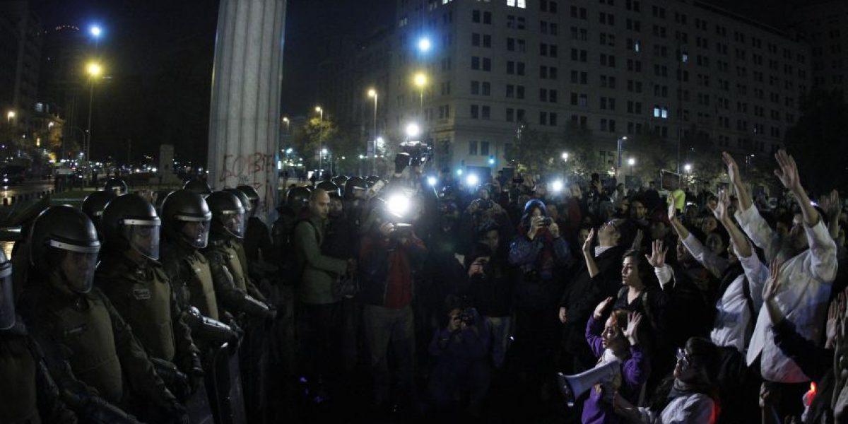 FOTOS: la otra cara de la marcha estudiantil
