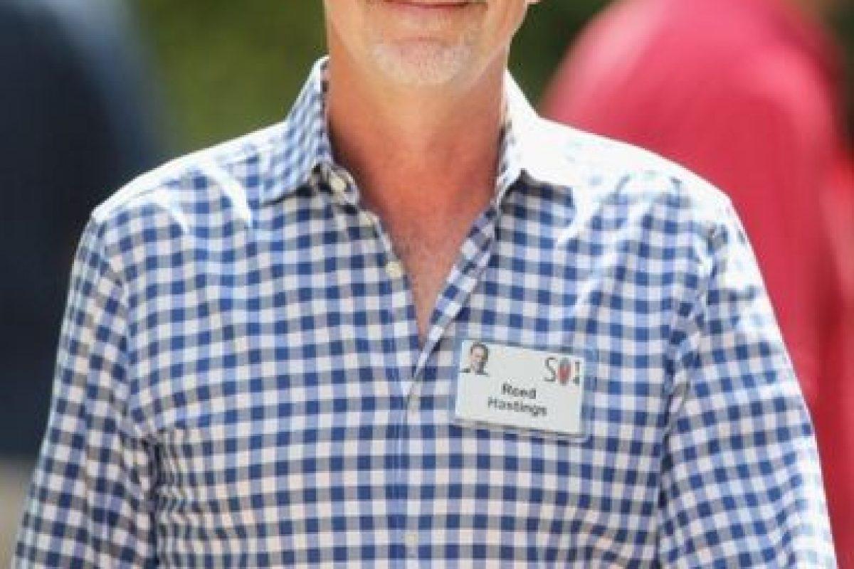 El estadounidense Reed Hastings, de 54 años de edad, cofundó en 2007 Netflix, el servicio que permite reproducir películas vía streaming. Foto:Getty Images. Imagen Por: