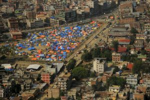 Sobrevivientes de los terremotos en Nepal que se quedaron sin hogar. Foto:AFP. Imagen Por: