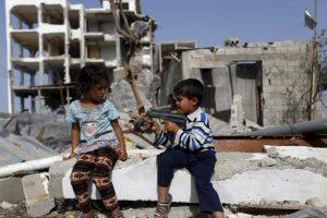 Niños palestinos jugando. Foto:AFP. Imagen Por: