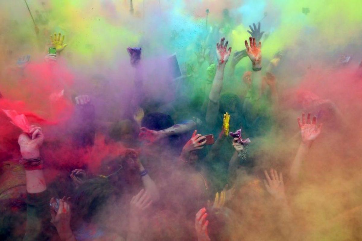 Festival de Colores en Moscú, Rusia Foto:AFP. Imagen Por: