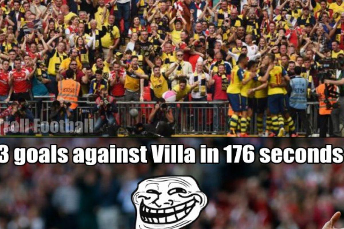 Sadio Mané anotó hace un par de semanas, el hat-trick más rápido de la Premier League en sólo ¡176 segundos! Sí, lo hizo ante el Aston Villa. Foto:Twitter.com/troll__football. Imagen Por: