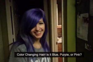 """¿Ilusión óptica? ¿Es ella """"Tonks"""", la maga de """"Harry Potter"""" que puede cambiar su color de pelo? Foto:vía Imgur. Imagen Por:"""
