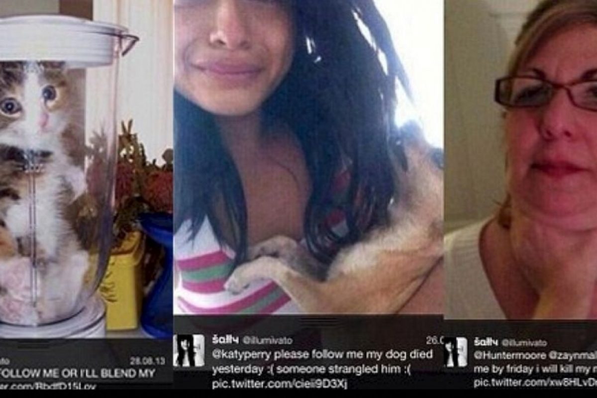 """La sádica fan de 'One Direction': El año pasado, una fan de la agrupación dijo que mató a su chihuahua porque la banda no le respondió sus peticiones de seguirla en Twitter. Solo decía """"Síganme o mato a mi perro"""". Luego le escribió a Lyam Payne """"Sígueme. Mi perro murió"""" y mostraba la foto de un perro muerto. Pero todo fue una farsa, ya que las fotos eran tomadas de Internet. Sin embargo, muchos quieren darle una lección: ya hay 3 mil firmas para que ella vaya a prisión. Foto:vía Oddee. Imagen Por:"""