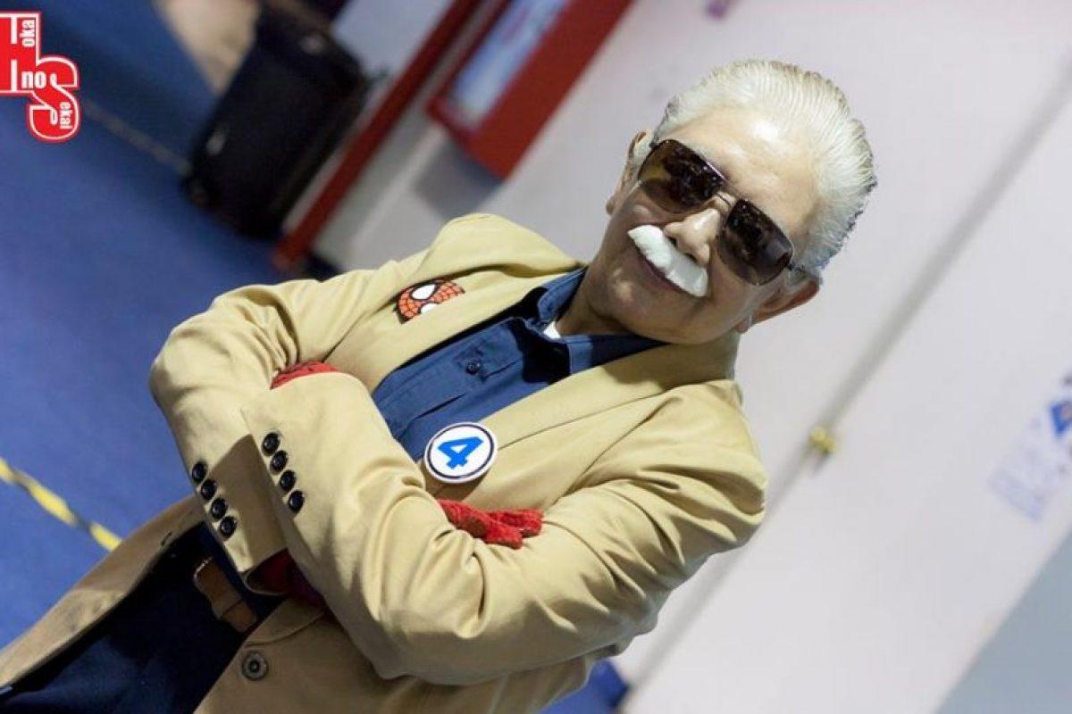 O Stan Lee. Foto:vía Rosy Durán/Facebook. Imagen Por: