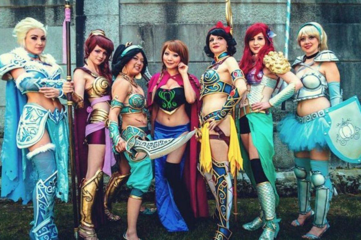Las princesas Disney en armadura. Foto:vía The Curvy Geek. Imagen Por: