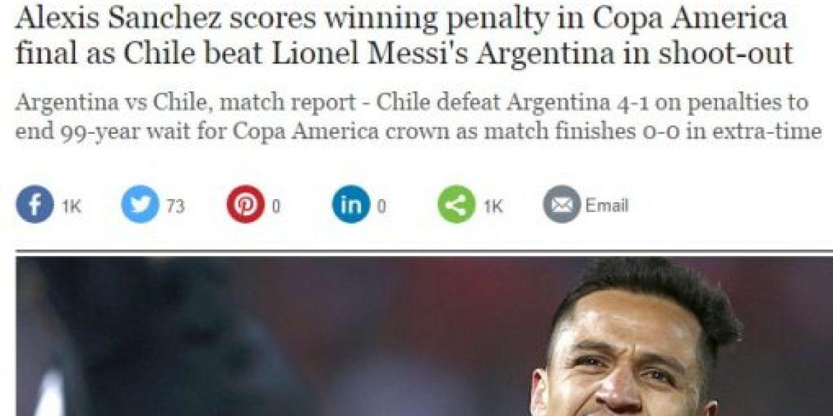 Las portadas de la prensa mundial destacan triunfazo de la Roja