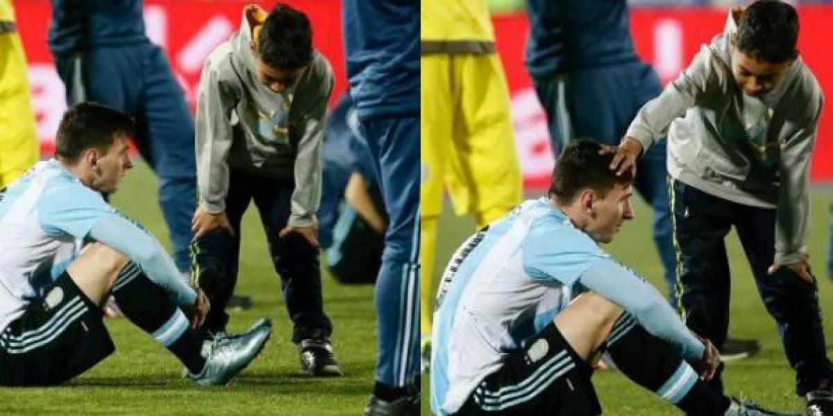 Video: Los niños que consolaron y pidieron la selfie más triste a Messi