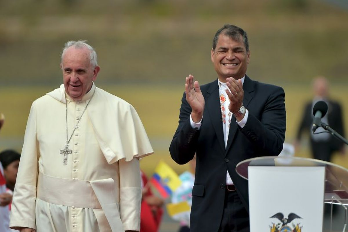 En el discurso se su llegada agradeció a Dios, por poder volver a Latinoámerica Foto:AFP. Imagen Por: