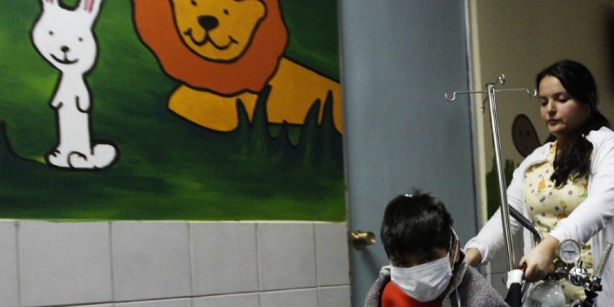 Aumento de atenciones respiratorias de niños seguirá creciendo