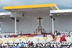 Hoy ofreció una misa ante más de un millón de personas en el Parque Bicentenario, según información del Ministerio del Interior Foto:AFP. Imagen Por: