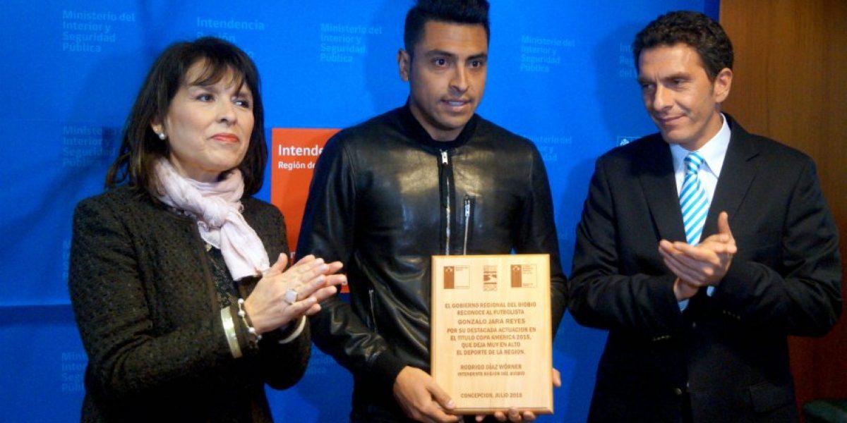 El homenaje que le brindó el Gobierno a Gonzalo Jara por su participación en Copa América