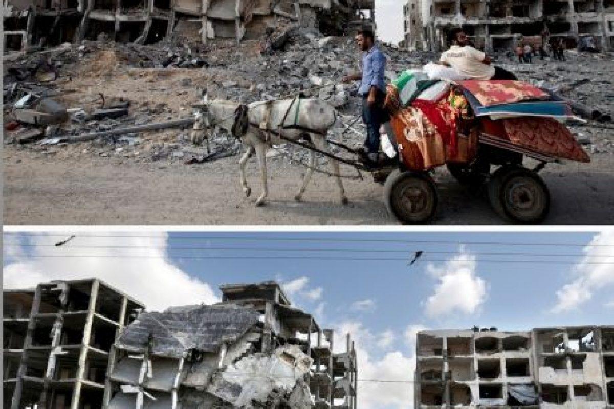 Fotografías tomadas en el norte de la Franja de Gaza Foto:AFP. Imagen Por: